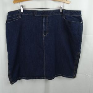 FASHION BUG Dark Denim Jean Skirt Plus Size 26